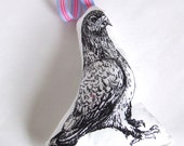 London Pigeon Smelly Pigeon Gocco Printed Lavender Sachet
