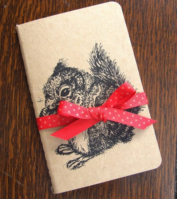 Squirrel Secrets Gocco Printed Pocket Moleskine Cahier Notebook