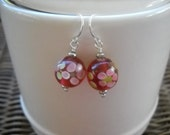 Retro Rose Earrings