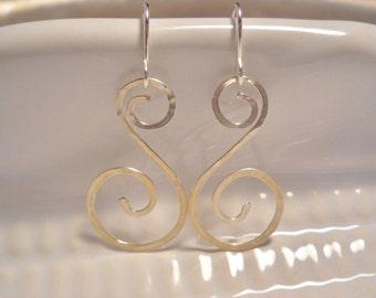 Silver Double Spiral Earrings