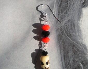 Halloween Earrings with skulls