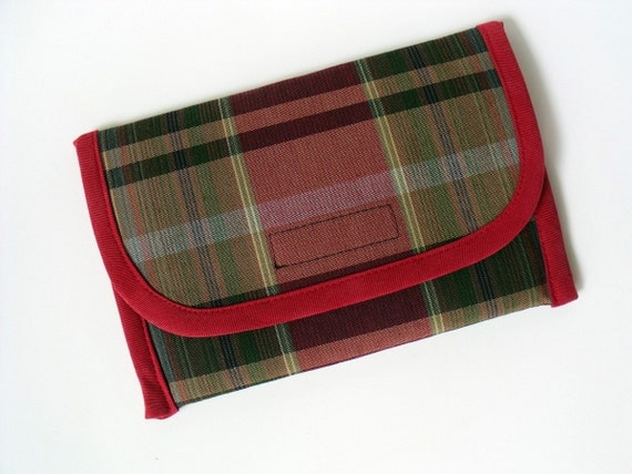 SALE -- Kindle Fire, Touch,  3G or WiFi Case in RED PLAID