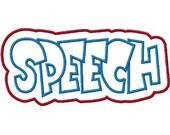 Speech Embroidery Machine Double Applique Design 2330
