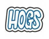 Hogs Embroidery Machine Double Applique Design 2349