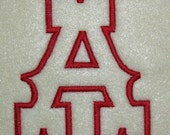 Western Embroidery Machine Applique Alphabet Monogram Font Set 156
