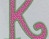 Large UC Curlz Embroidery Machine Applique Alphabet Font Set 5x7 2067