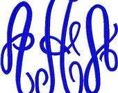 XL 3 Letter Embroidery Machine Alphabet Monogram 2460