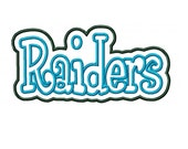 Raiders EMbroidery Machine Double Applique Design 2856