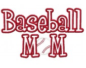 Baseball Mom Embroidery Machine Applique Design 2666