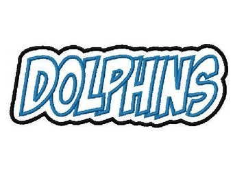 Dolphins Embroidery Machine Applique Design 2215 Instant Download