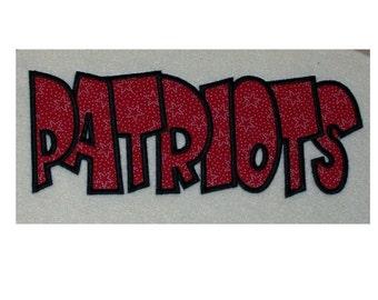Patriots Embroidery Machine Applique Design 2169