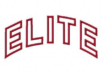 Elite Arc Embroidery Machine Applique Design 2212
