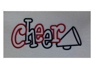 Cheer 2 Color Embroidery Machine Applique Design 2114