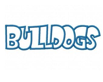 Bulldogs Embroidery Machine Applique Design 2301