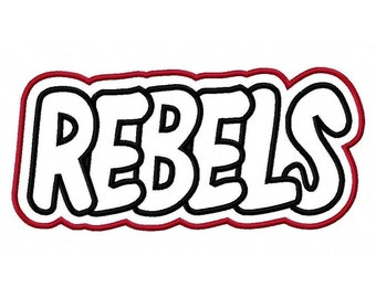 Rebels with a Shadow Embroidery Machine Applique Design 2239