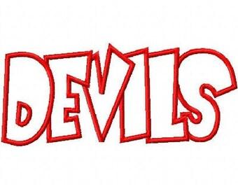 Devils Embroidery Machine Applique Design 2423