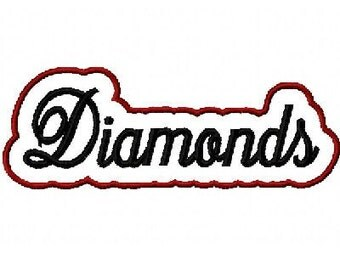 Diamonds with a Shadow Embroidery Machine Applique Design 2428