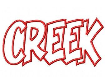 Creek Embroidery Machine Applique Design 2648