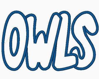 Owls Embroidery Machine Applique Design 2607