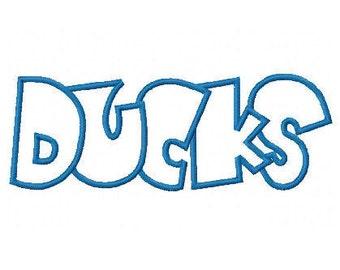 Ducks Embroidery Machine Applique Design 2399