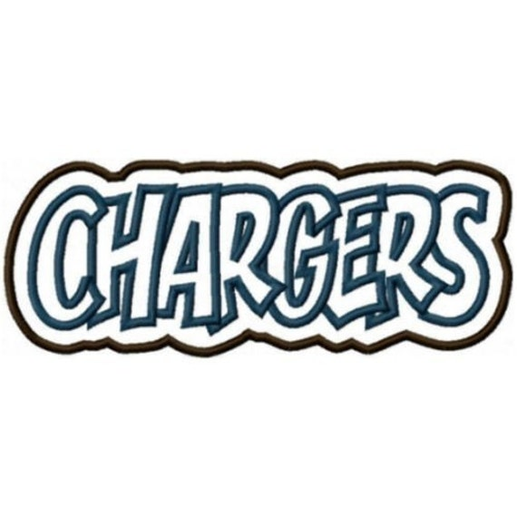 Chargers Embroidery Machine Double Applique Design 2268 Instant Delivery