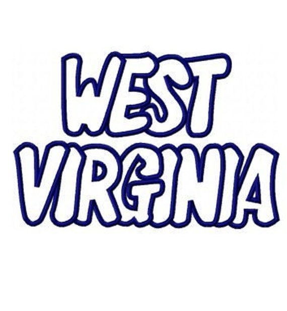west virginia embroidery machine applique design 2370 by kayelee