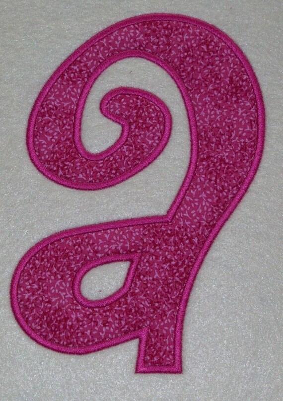 4 inch Lower Case Curlz Embroidery Machine Applique Alphabet Fonts 2076 INSTANT DOWNLOAD