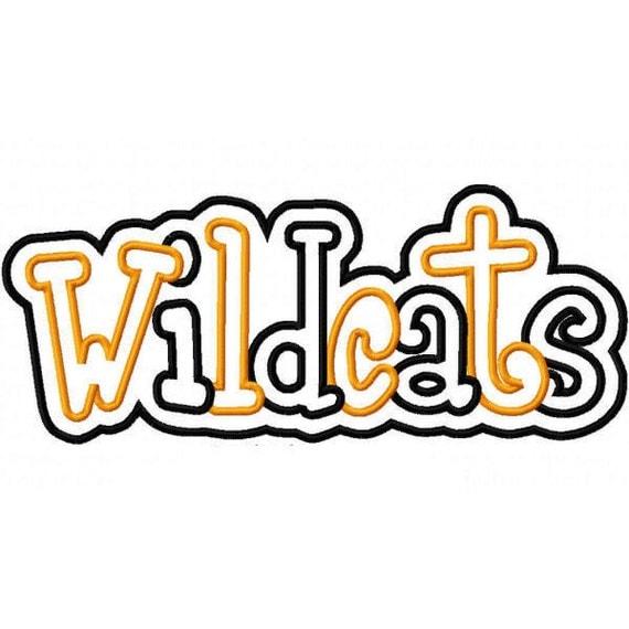 Wildcats 2 Color Embroidery Machine Double Applique Design 2529