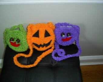 Halloween Bags  Crochet Bag  Girls Accessorie  Custom Orders