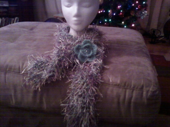 Women scarf and flower pin  Women Accesorie Winter Accesorie  Fashion Fall   Custom Orders Welcome