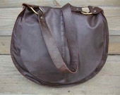Big Brown Leather Satchel Bag