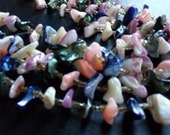 Vintage multi-colored stone necklace set