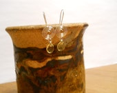 Yellow Briolette on Silver Spiral hooks