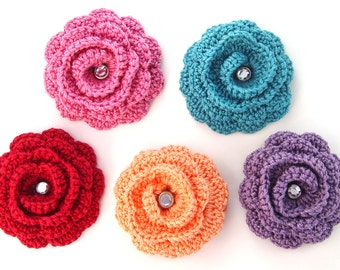 Flower Brooch, Rose Scarf Pin, Women's Lapel Pin, Twirly Flower Brooch Pin, Brooch Accessory for Teens Girls Women, Flower Lapel Pin, Rose