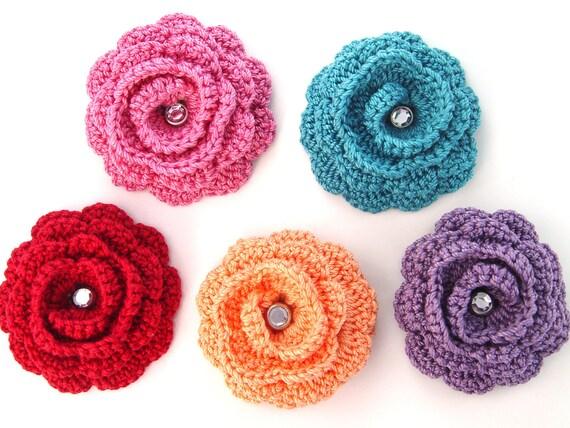 Flower Brooch, Rose Scarf Pin, Women's Lapel Pin, Twirly Flower Brooch Pin, Brooch Accessory for Teens Girls Women, Flower Lapel Pin, Rose