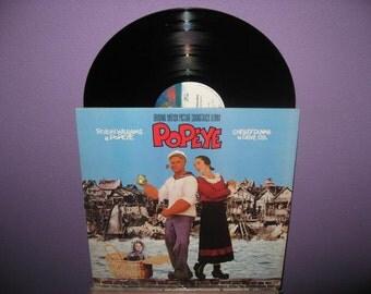 VINYL LOVE SALE Popeye Original Soundtrack Lp 1981 Comedy Musical Robin Williams Vinyl Record Album