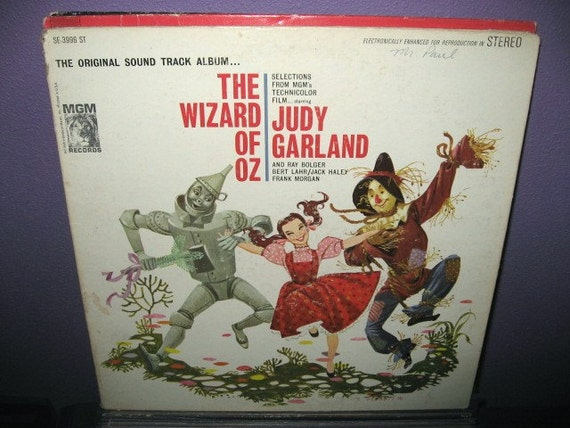 Rare Vinyl Record The Wizard Of Oz Original By Justcoolrecords