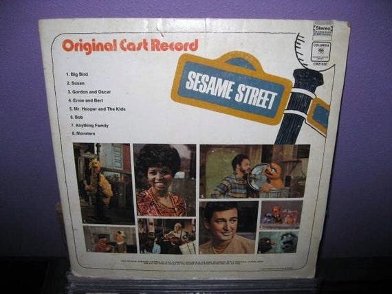 Vinyl Record Sesame Street Original Cast Record Lp 1970