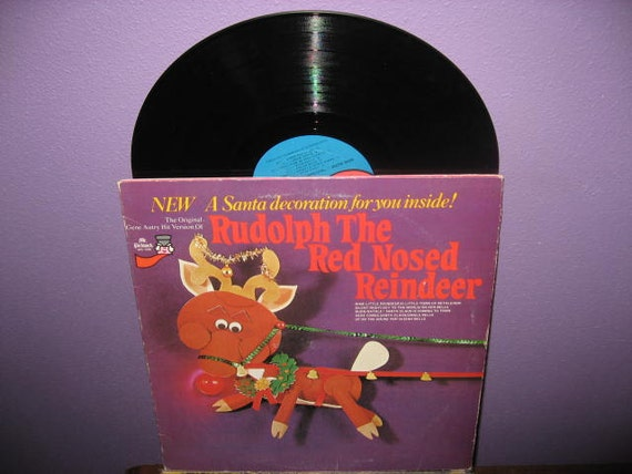 Vinyl Record Album Rudolph the Red Nosed Reindeer LP 1977 Children's Christmas Holiday Classics