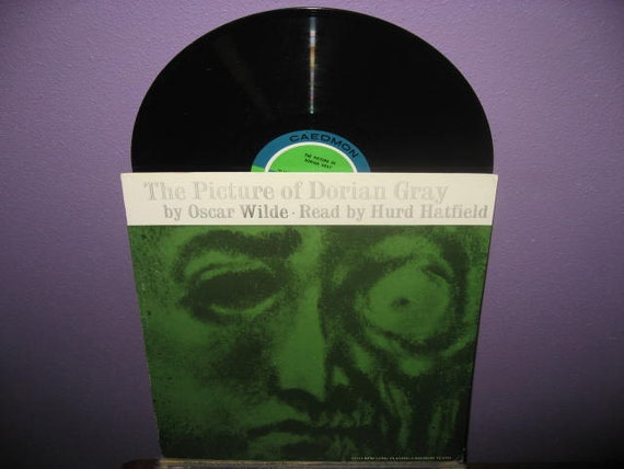 Rare Vinyl Record The Picture of Dorian Gray Read by Hurd Hatfield LP 1959 Oscar Wilde Spoken Word Classics