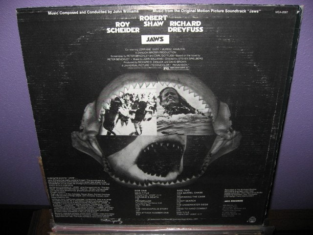 Vinyl Record Album Jaws Original Soundtrack Lp 1975 Horror
