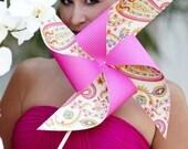 Custom Pinwheel Wedding Party Set of 4 Pinwheels and 4 Boutonnieres by Rule42