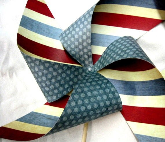 Independence Day Pinwheel set of 2 by Rule42