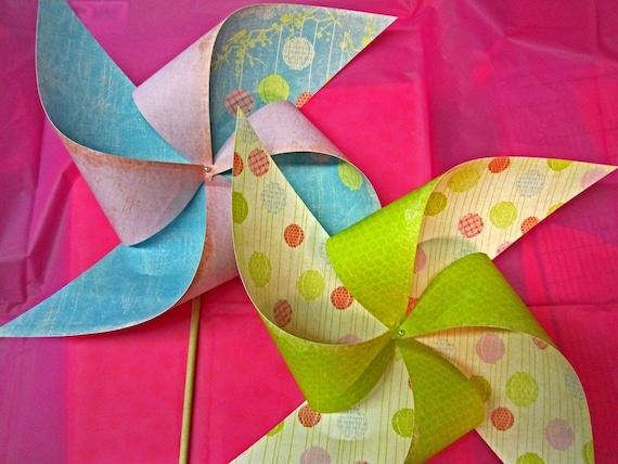 A Very Merry Un Birthday Wonderland Tea Party Pinwheels Set of 2 by Rule42