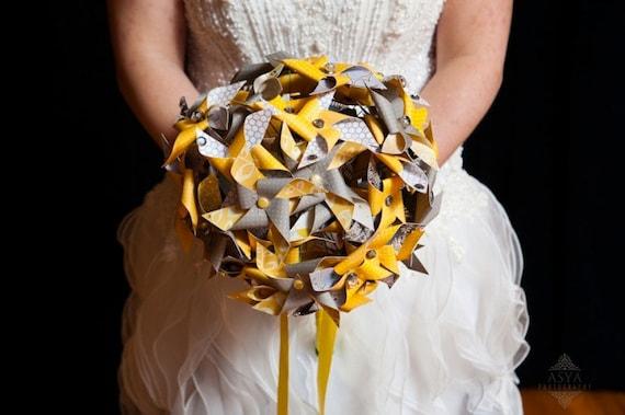 Bridal Mini Pinwheel Wedding Bouquet by Rule42 Custom Made to Order