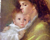 """Vintage Lithograph """" Mother Love"""" by Anrmando Gentilini"""