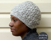 Coline Hat Knitting Pattern - Cable Hat - Toque Knit Pattern - Knitting PDF Patterns - Original design by ABLACKPEPPER