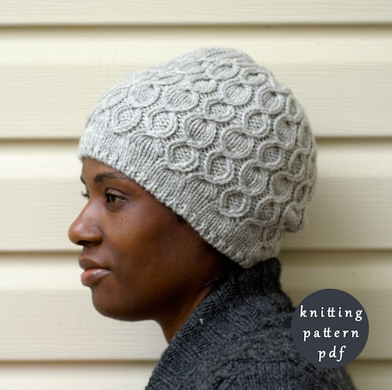 Knitting Pattern Toque : Items similar to Coline Hat Knitting Pattern - Cable Hat - Toque Knit Pattern...