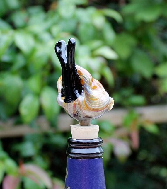 Glass Snail Wine Stopper