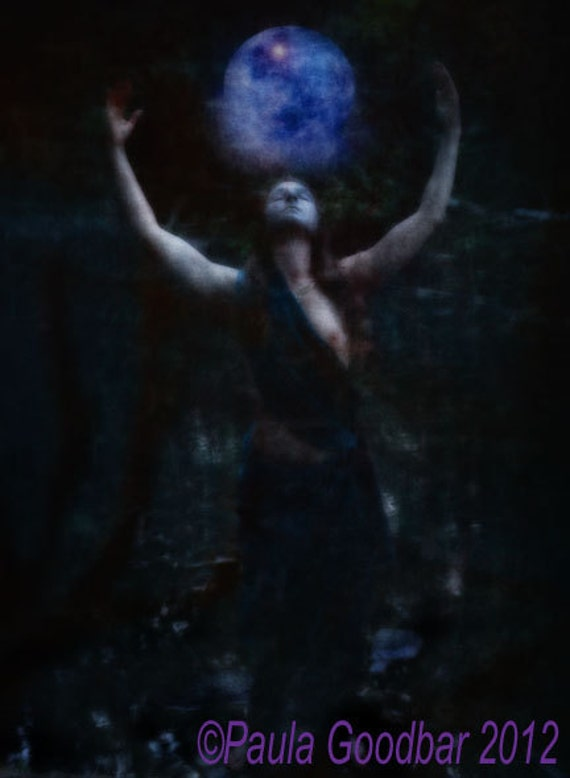 "Moon Goddess Manifesting the Blue Moon -(""Moon Goddess -Manifestation"") Archival 8x10 Limited Edition Print"
